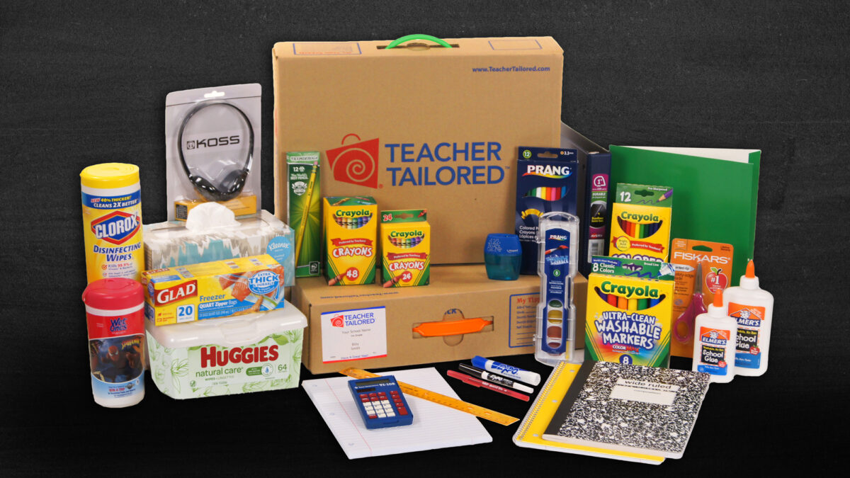 Teacher Tailored School Supply Kit Box and Products